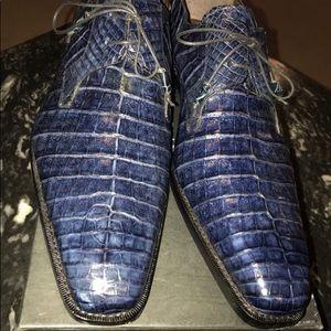 Crocodile Lace Up Shoes - Mezlan